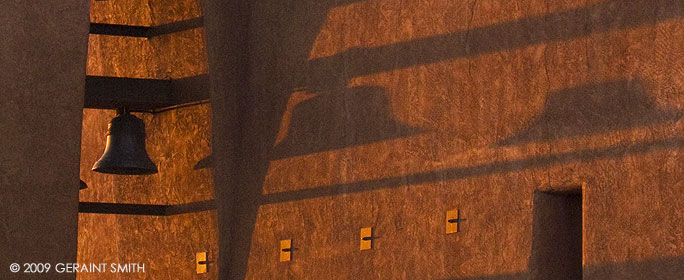 Shadows from the belfrey, Our Lady of Guadalupe Church, Taos, NM