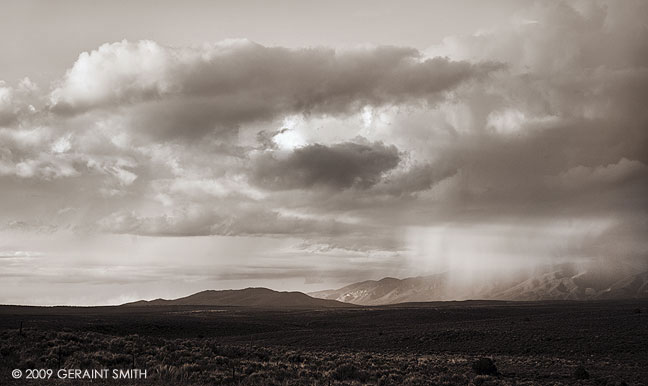 Storm over the mesa, northof Taos, NM