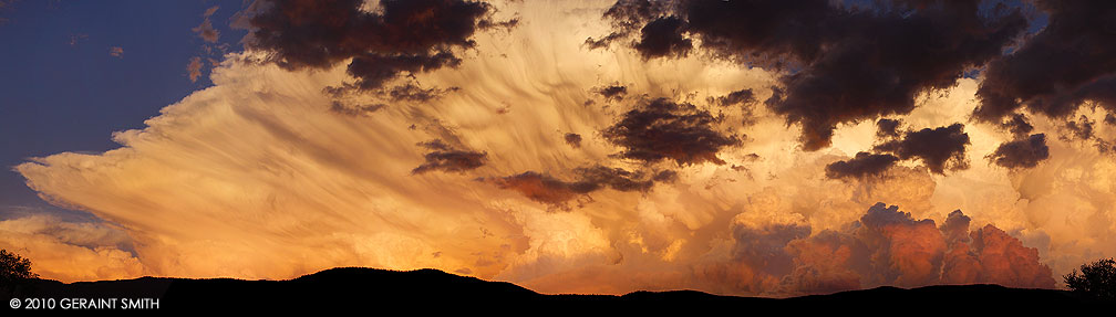 Clouds in the evening sky over Taos, New Mexico