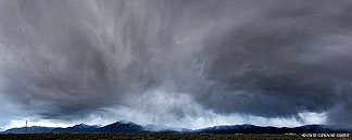 Yesterday evenings storm over the Taos Valley