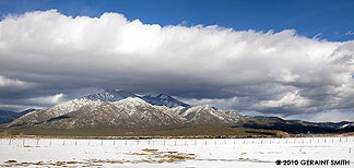 Taos Mountain clouds