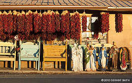 jesus statues and red chilis, Taos, NM