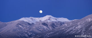 moonrise over vallecito peak