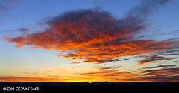 Red cloud mesa sunset