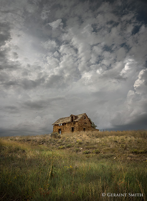 abandoned adobe home san cristobal new mexico