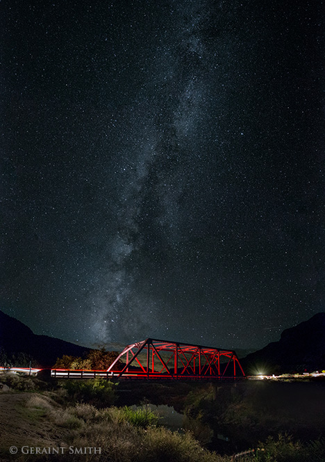 red bridge, milky way, rio grande, taos new mexico