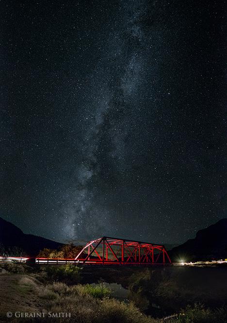 red bridge, milky way, rio grande, taos new mexico