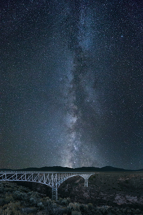 Rio Grande Gorge Bridge Milky Way