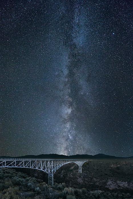Rio Grande Gorge Bridge Milky Way
