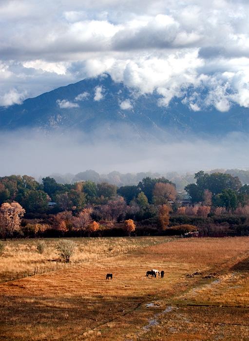 Ranchos Valley Taos Mountain