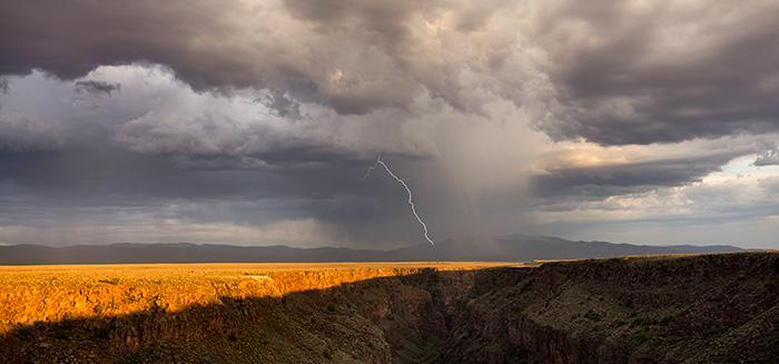 Rio Grande Gorge Lightning