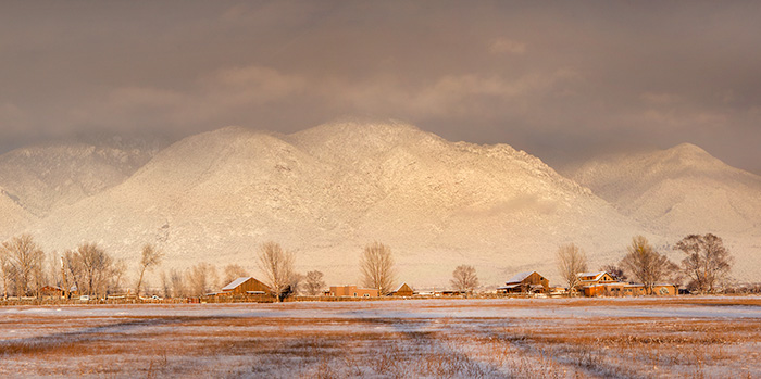 Taos Mountain Winter Barns