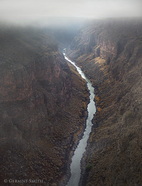 fog lifting from the rio grande gorge