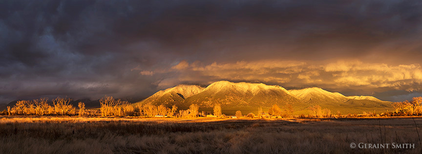 Taos Mountain Sunset taos new mexico