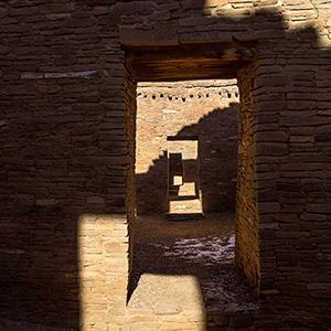 chaco canyon shadows and doors