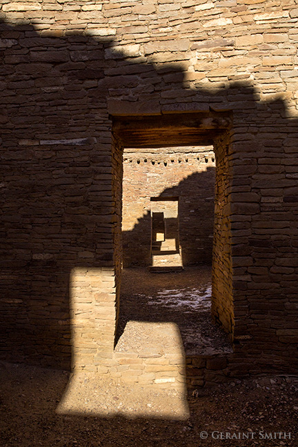 Geometry shadows and doorways in chaco canyon