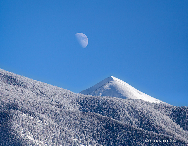 moon rising over the latir wilderness new mexico