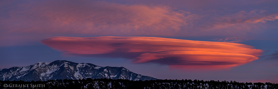 Lenticular clouds and Taos Mountain, northern New Mexico