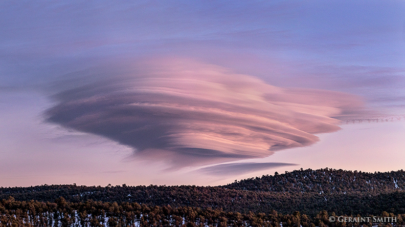 lenticular clouds from san cristobal new mexico