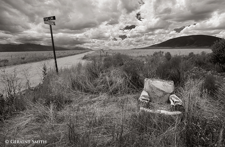 Found roadside armchair and ute mountain