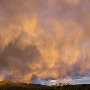 clouds and sunset over san cristobal new mexico