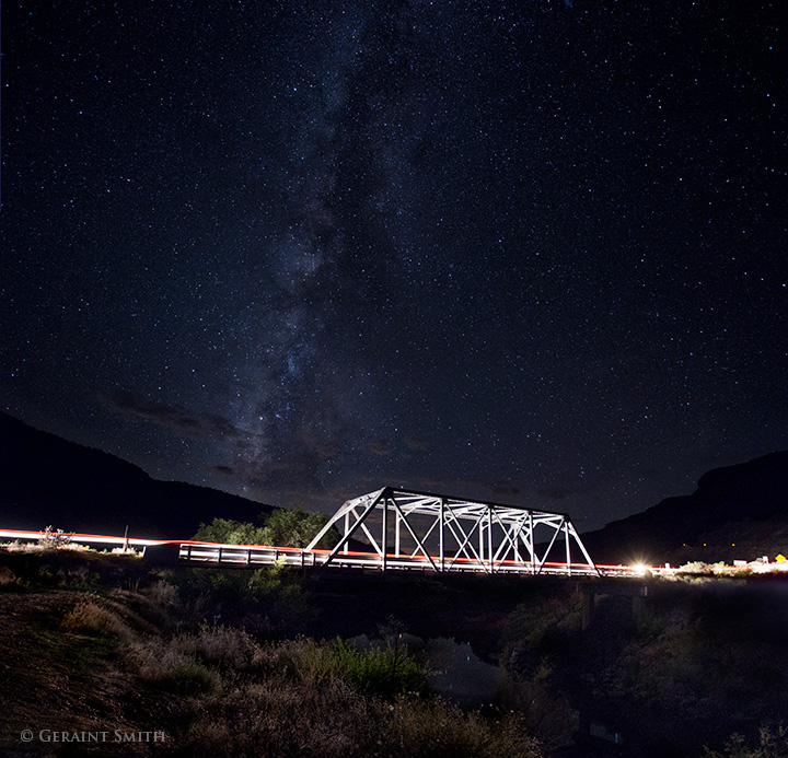 White Bridge, Taos Junction with milky way