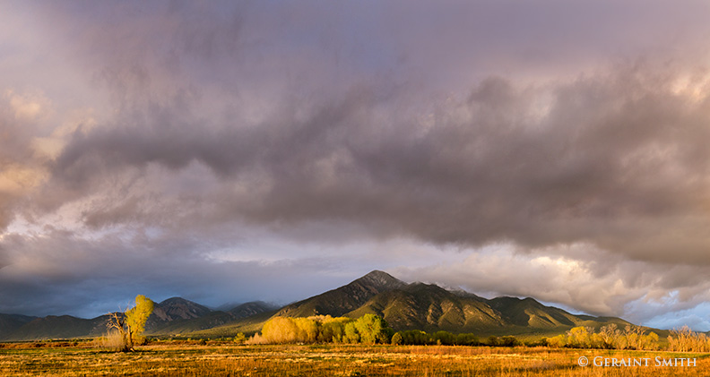 Sunset Light On Taos Mountain