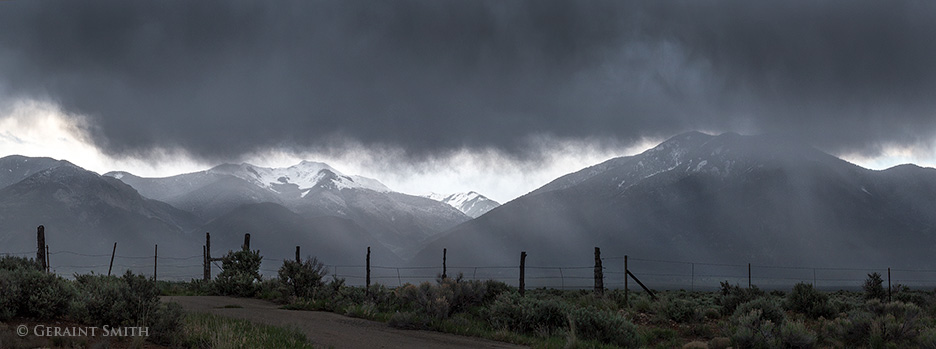 Mountain storms and snow