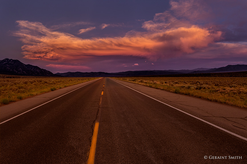 highway sky sunset