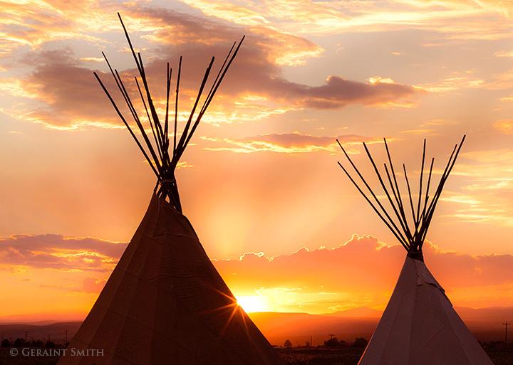 Taos Tipis Sunset New Mexico