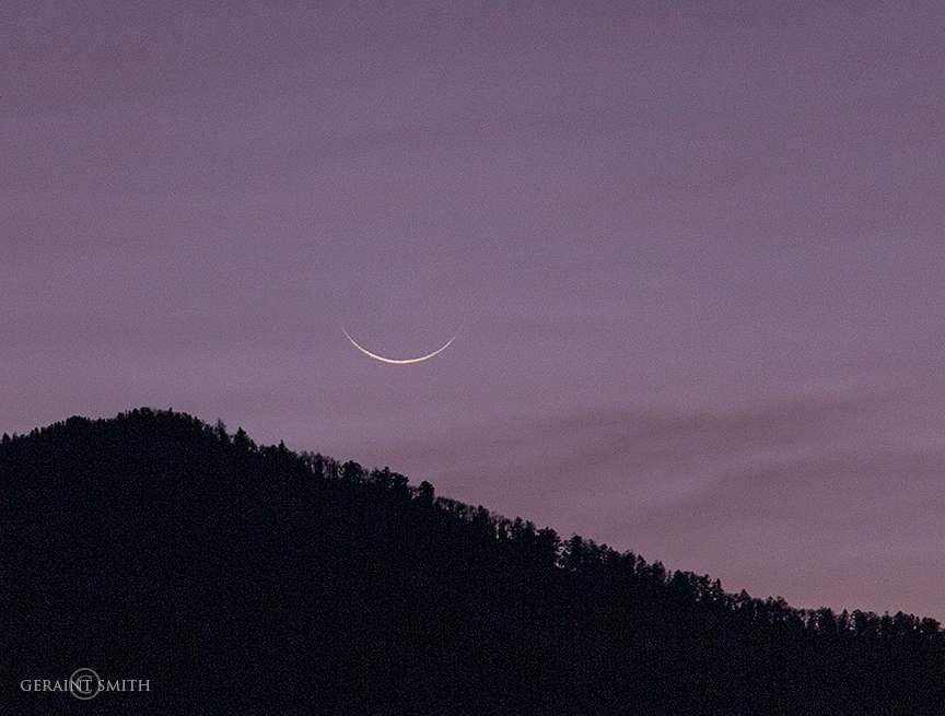 Crescent Moon Rise San Cristobal