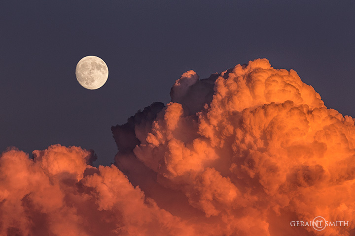 Sunset Cloud And Moonrise