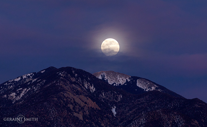 Super Moon Rise Over Taos Mountain