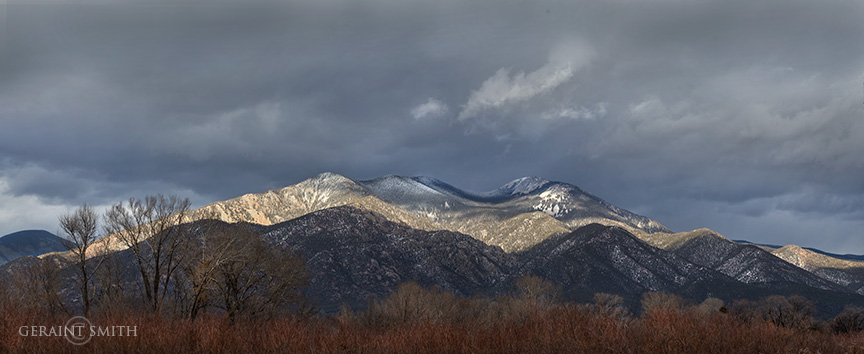 Winter Light On Taos Mountain