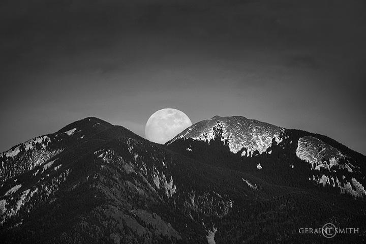 One More Super Moon Taos Mountain
