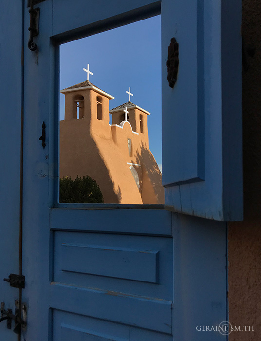 Saint Francis Church through the blue