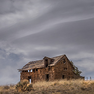 On The Hill, Abandoned Adobe Under The sky