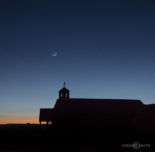 Crescent Moon, Venus Conjunction