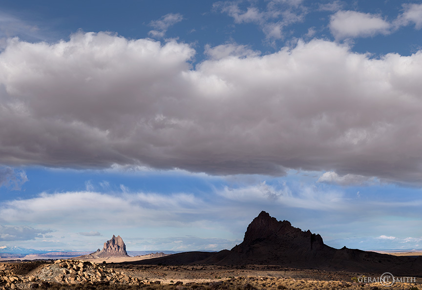 Red Valley, Arizona and the view to Shiprock, New Mexico.