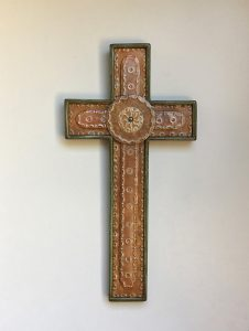 Crosses, green punched, steel inlay