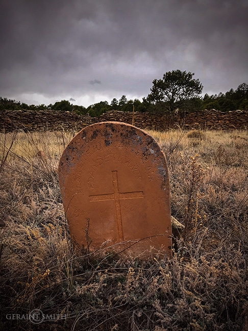 Old cemetery La Cueva new mexico