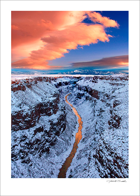 Rio Grande Gorge Winter Light