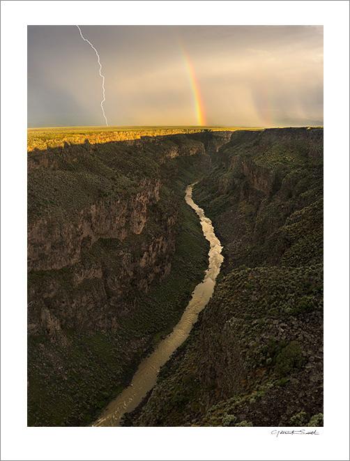 Rio Grande Gorge Lightning Rainbow