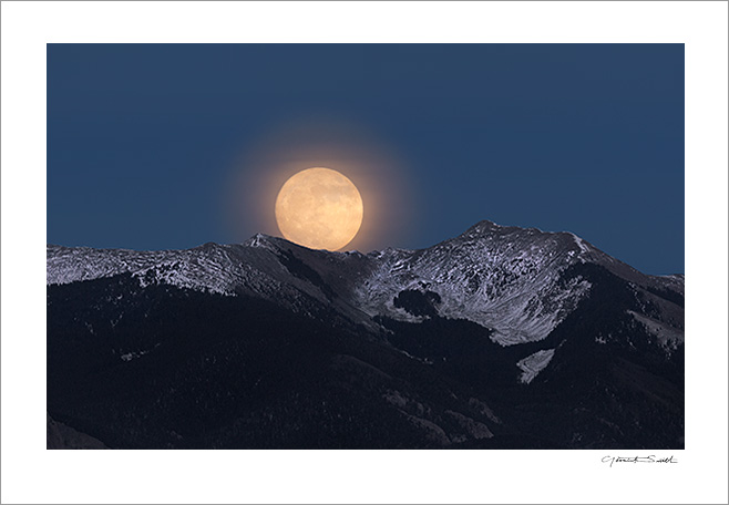 Super Moonrise Vallecito Mountain Taos