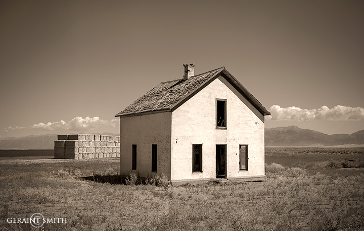 White house, San Luis Valley, Colorado
