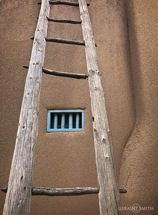 Blumenschein Home Courtyard Ladder, Ledoux Street