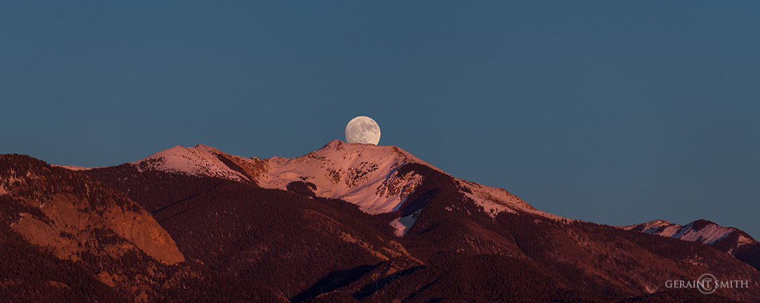 Grand Vista, Moonrise Over Vallecito Peak