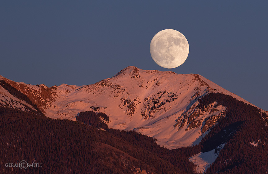 Gorgeous Moonrise Over Vallecito Peak