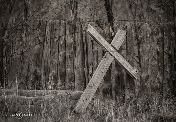 Wooden Cross, Cemetery, Questa, NM