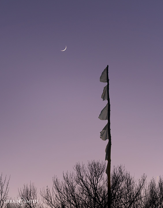 Prayer Flags With Crescent Moon